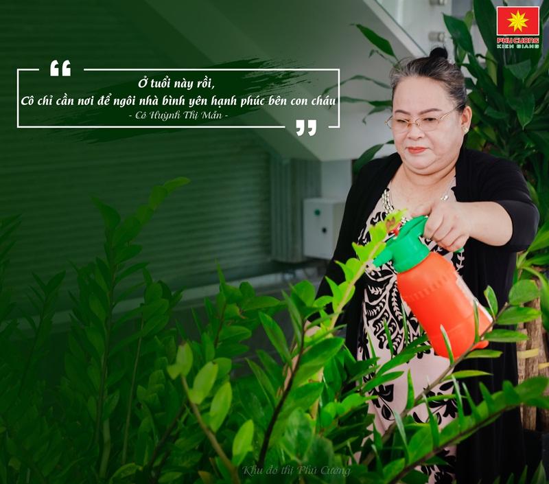 Cô Huỳnh Thị Mẫn - Cư dân tại Biệt thự Đảo Phú Gia